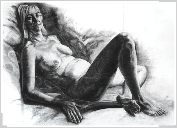 Caroline Reclining by artist Richard Tomlin