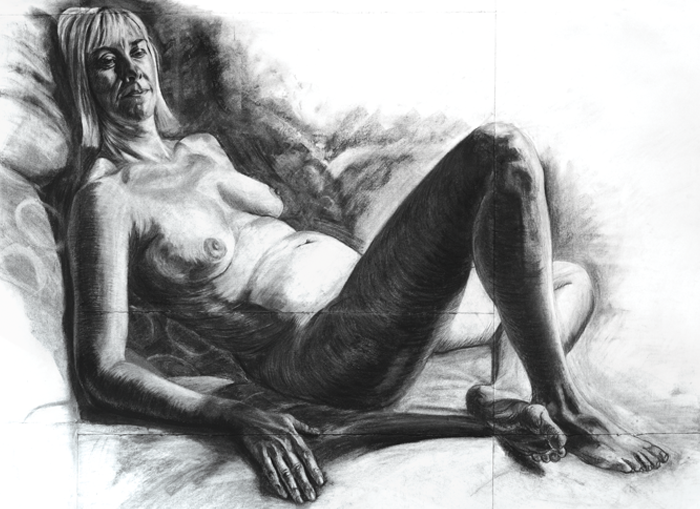 Reclining Woman by artist Richard Tomlin