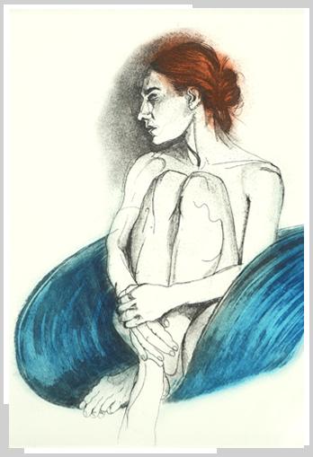 Woman_in_a_blue_Chair_by_artist_Richad_Tomli