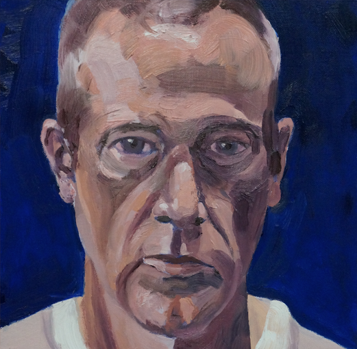 Man with grey eyes  by artist Richartd Tomlin