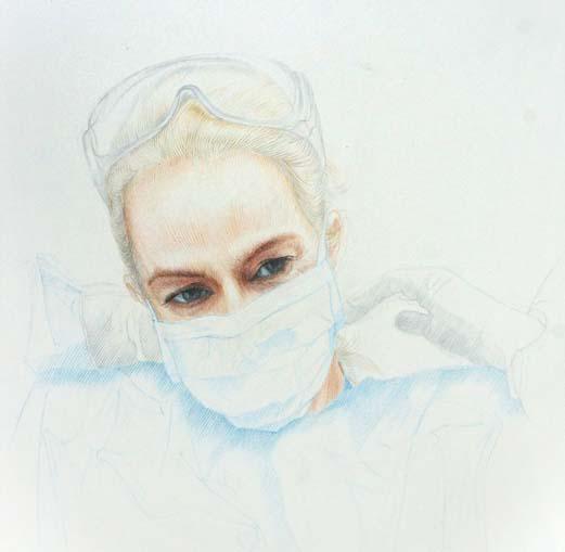 Nurse Sam in PPE